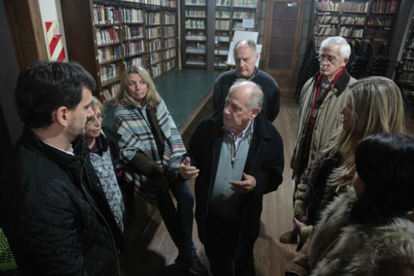 Galmarini visitó la Biblioteca Popular de San Isidro