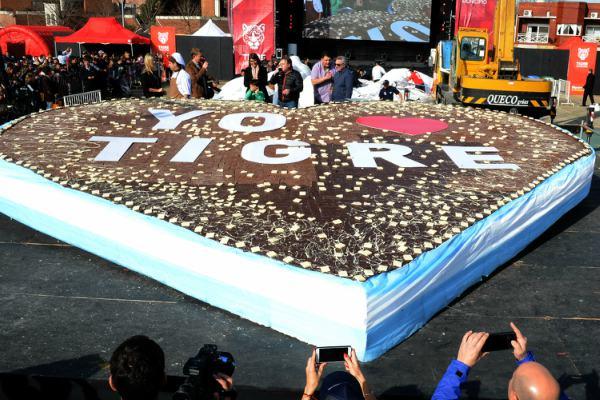 Los vecinos de Tigre disfrutaron más de 2.000 kilos de chocolate