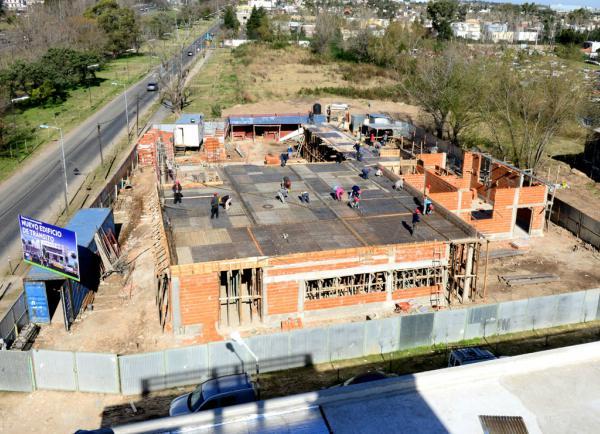 Andreotti supervisó la obra del nuevo y moderno edificio de Tránsito