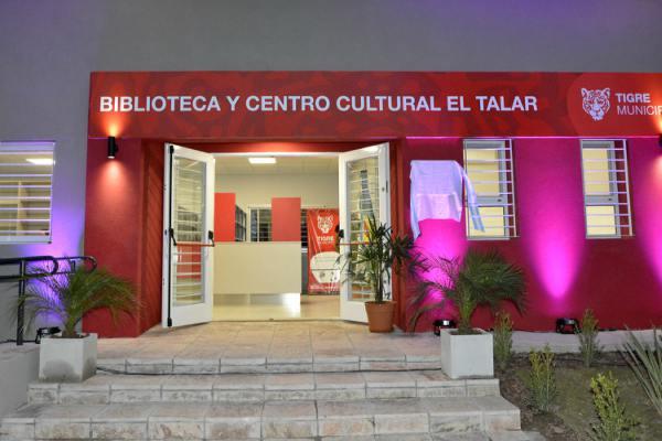 El intendente de Tigre, Julio Zamora, inauguró la nueva Biblioteca y Centro Cultural El Talar, en Brasil y Belgrano de dicha localidad. La obra realizada, a través de la Secretaría de Inversión Pública del municipio, cuenta con una superficie de 155 metros cuadrados.