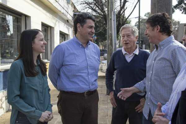Jorge Macri y Gustavo Pose recorrieron los tramos finalizados de la calle Paraná