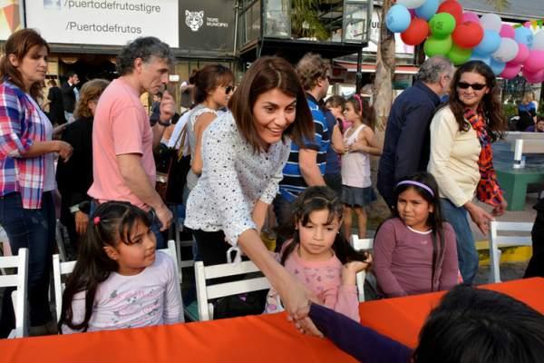 Gisela Zamora compartió una tarde con chicos de merenderos de Tigre