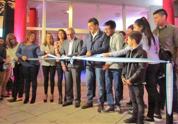 Sergio Massa asistió, junto al intendente local Julio Zamora, a la inauguración de las obras de ampliación del Centro Universitario Tigre (CUT),