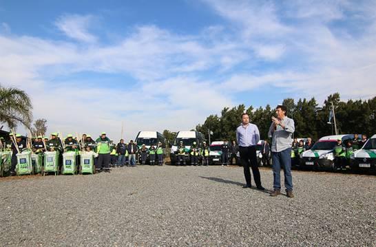 San Isidro presentó nuevos móviles y equipamiento para cuidar el espacio público