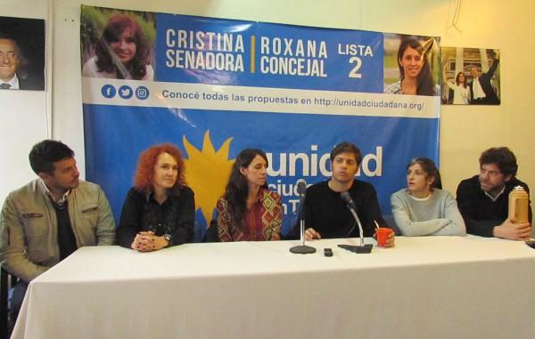 Kicillof y Vallejos recorrieron Tigre en apoyo a la lista de Roxana López