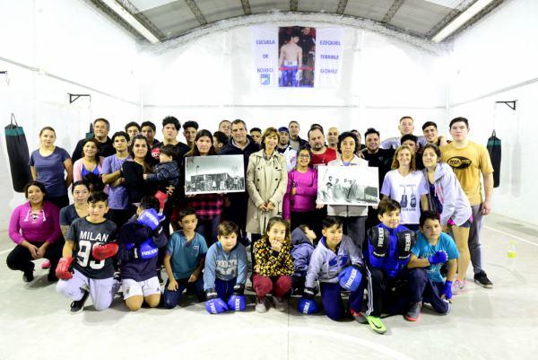 Alicia Andreotti visitó la Soc. de Fomento La Unión, renovada por el Municipio