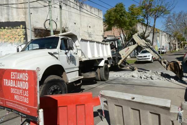 Las obras hidráulicas continúan en más barrios de Tigre centro