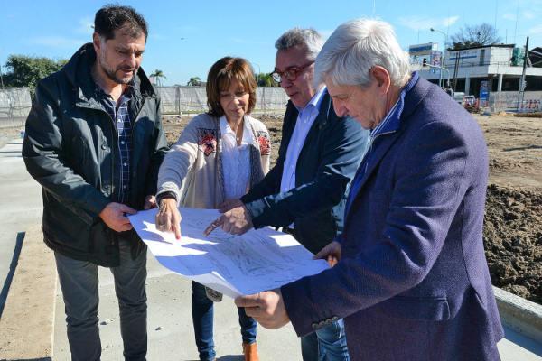 Julio Zamora y Luis Andreotti recorrieron las obras de la Plaza del Canal