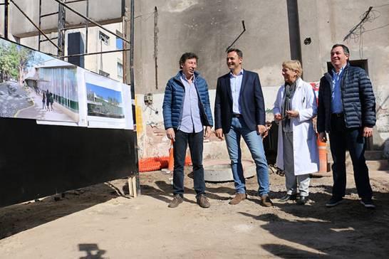 Posse y Daniel Ivoskus recorrieron la ampliación del Hospital Materno Infantil de San Isidro