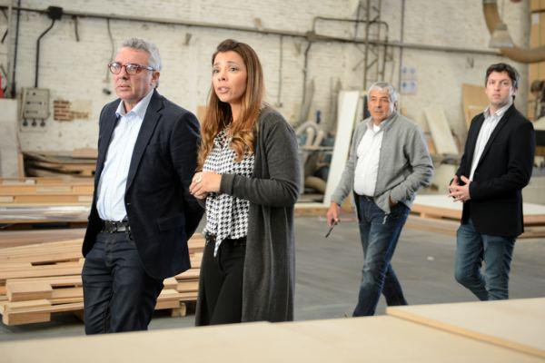 Julio Zamora visitó la planta de Dilegno en Troncos del Talar