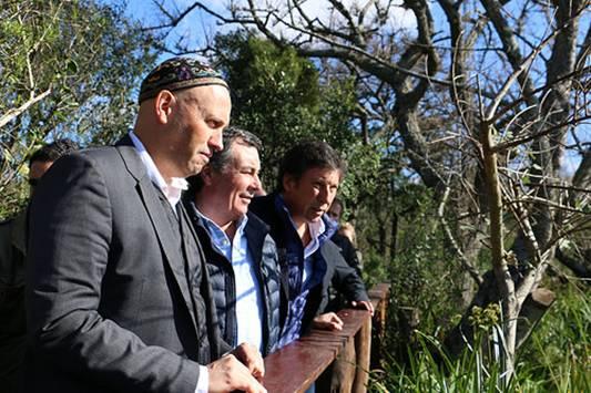 Posse y Bergman visitaron la reserva ecológica municipal