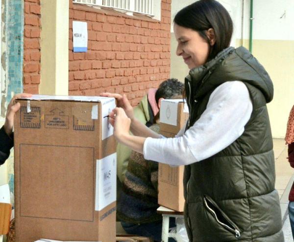 Soledad Martínez realizó su voto en Olivos