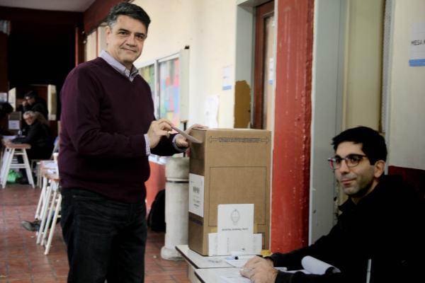 Jorge Macri votó en el Poveda