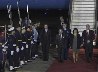 Macri recibe en la residencia de Olivos al vicepresidente de los Estados Unidos