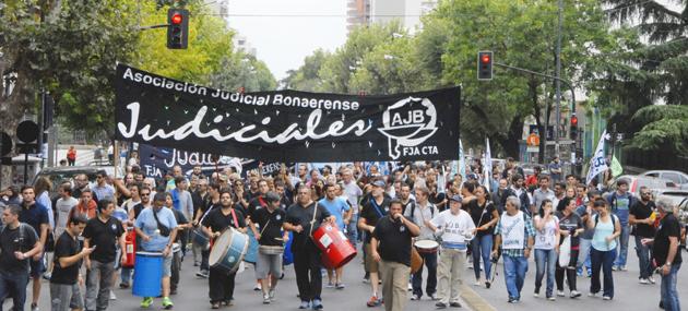 Los judiciales bonaerenses vuelven a parar por 48 horas