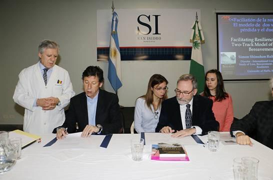 San Isidro y la universidad de Haifa de Israel firman convenio de intercambio académico