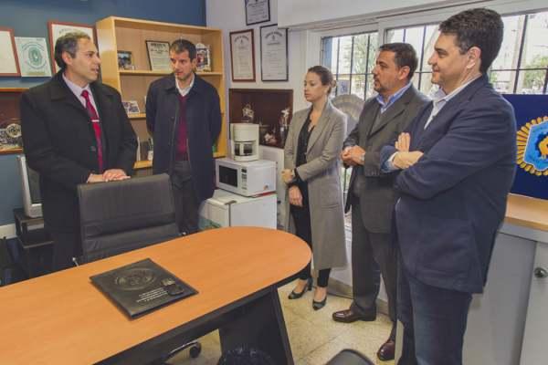 Jorge Macri presentó la Brigada Antisecuestro, frente al Centro de Monitoreo
