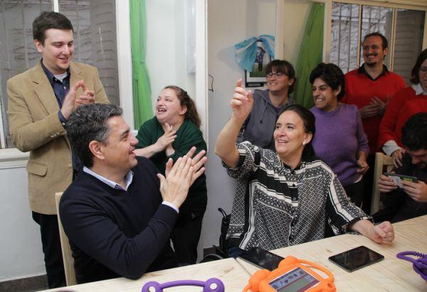 La vicepresidenta Michetti visitó una ONG en Vicente López, junto a Jorge Macri y Soledad Martínez