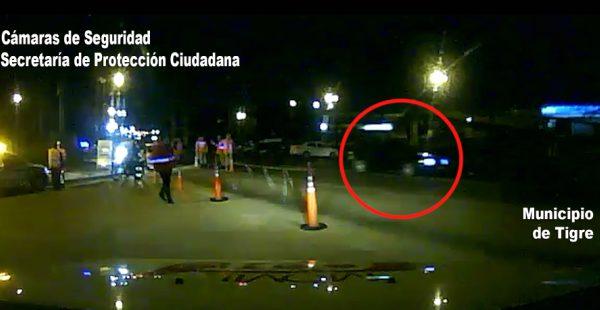 Tigre: Evadió un control vehicular, chocó y terminó tras las rejas