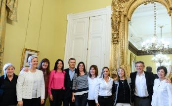 Macri recibió en Casa Rosada a mujeres que conducen pymes en la provincia de Buenos Aires