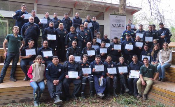 Bomberos Voluntarios se capacitaron en Tigre sobre rescate de fauna silvestre