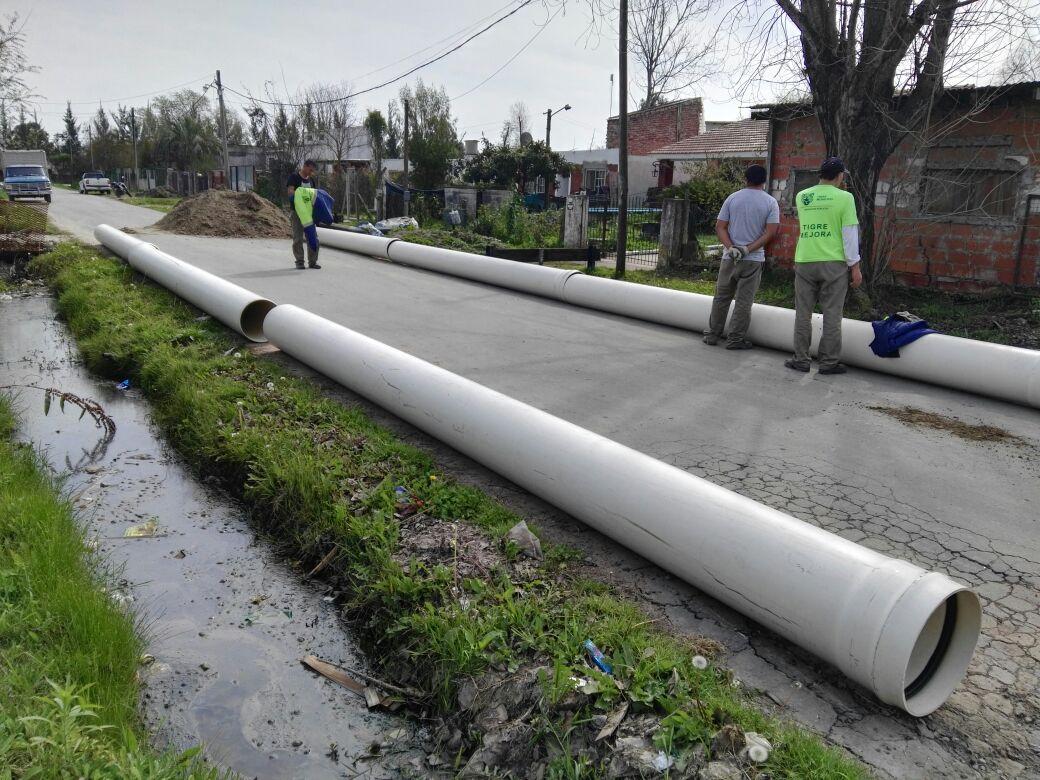 Tigre desarrolla su Plan Integral de entubamiento en Nuevo Delta