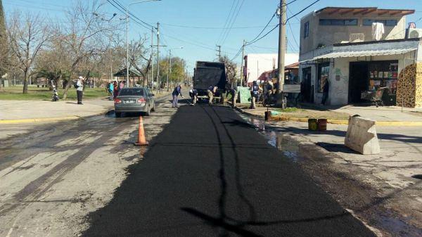Tigre extiende los trabajos de bacheo en más calles de la ciudad