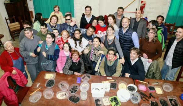 Gabriela Michetti y Segundo Cernadas visitaron el taller protegido