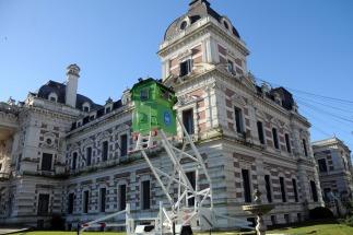 Instalaron dos torres de monitoreo de seguridad en la Casa de Gobierno bonaerense