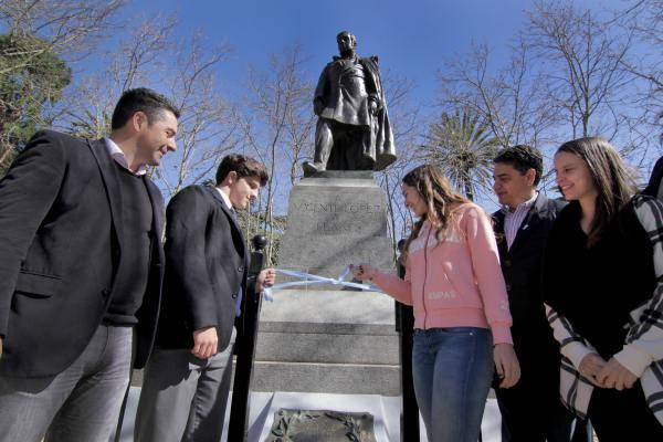 Jorge Macri presentó la puesta en valor del monumento a Vicente López y Planes