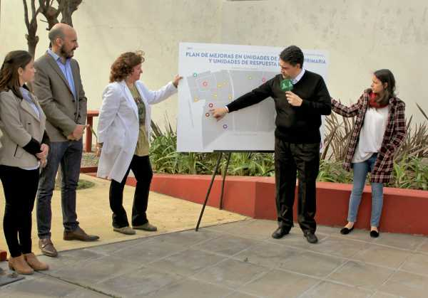 Jorge Macri en la presentación de la puesta en valor integral de la UAP Negrete de Munro.