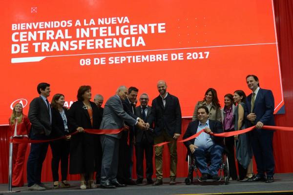 nauguración de la nueva central de transferencia de la planta Norlog, del grupo Andreani, en Benavídez