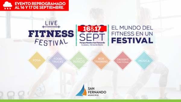 """El """"Live Fitness Festival"""" en San Fernando se reprogramó para el 16 y 17 de septiembre"""