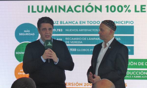Con la presencia del ministro de Ambiente y Desarrollo Sustentable de la Nación, Sergio Bergman, el intendente de Vicente López, Jorge Macri, anunció una nueva etapa del Plan de Iluminación LED en el municipio