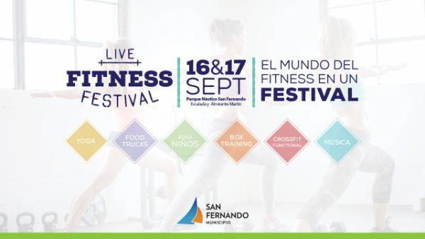 "Este finde, llega llega el ""Live Fitness Festival"" a San Fernando"