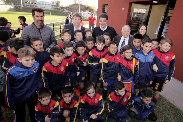 Jorge Macri y Soledad Martínez presentaron la nueva cancha auxiliar del Club Atlético Colegiales