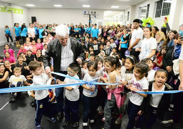 Andreotti inauguró un nuevo espacio deportivo