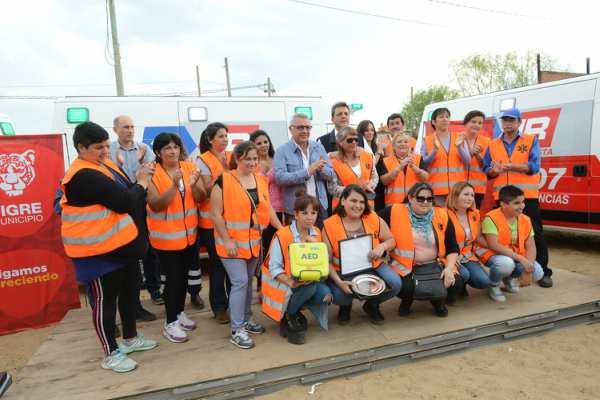 Zamora y Massa reforzaron el Sistema de Emergencias Tigre con nuevas ambulancias