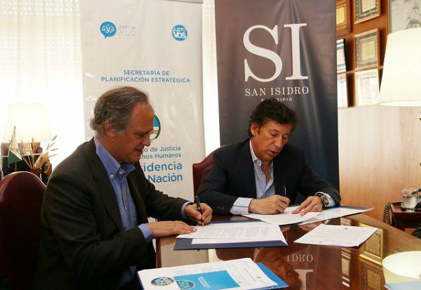 San Isidro firmó un convenio con el Ministerio de Justicia y Derechos Humanos