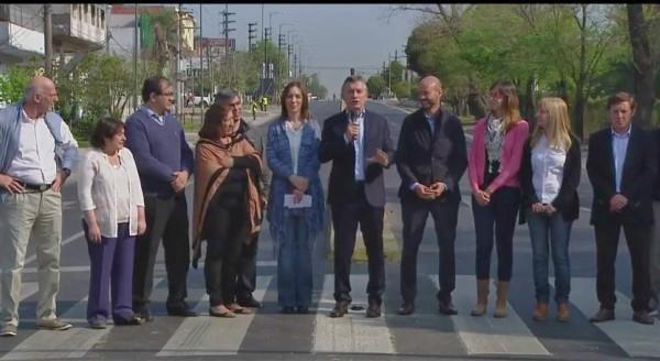 Macri inauguró obras viales en San Miguel junto a Vidal
