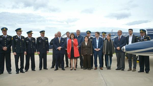 Bullrich presentó la aeronave de Lázaro Báez que fue recuperada de la corrupción
