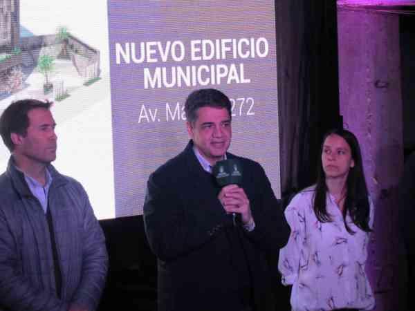 Jorge Macri y Soledad Martínez anunciaron el inicio de obra del nuevo edificio municipal de Vicente López