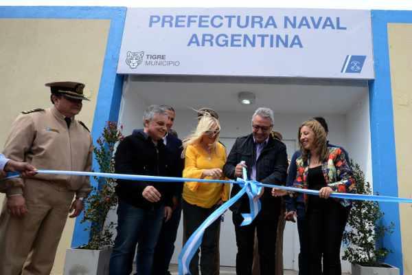 Julio Zamora inauguró las nuevas oficinas de Prefectura Naval Argentina en Tigre