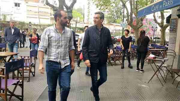Joaquín Noya y Florencio Randazzo recorrieron comercios en Vicente López