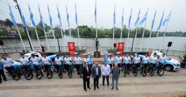 Tigre presentó el nuevo cuerpo de ciclistas de su Dirección de Tránsito
