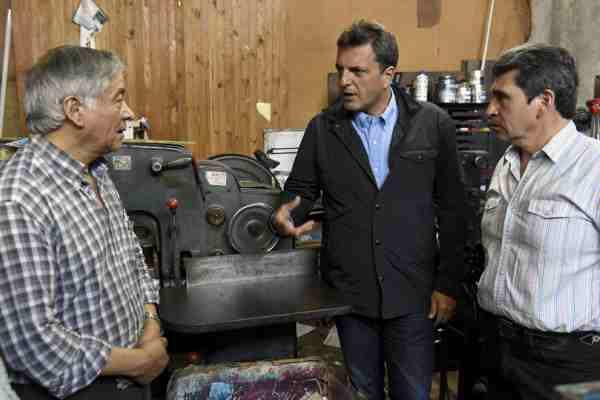 Sergio Massa visitó Malvinas Argentinas