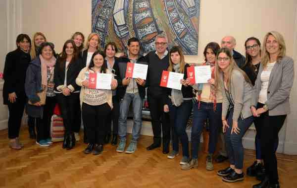 Julio Zamora recibió a jóvenes que participaron del Programa de Pasantías de Tigre
