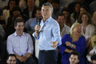 Mauricio Macri encabezó hoy el cierre de la campaña del frente porteño