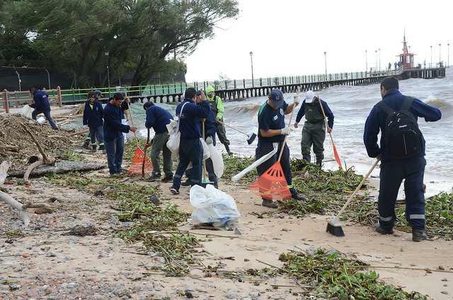 Nueva jornada de limpieza en la costa de San Isidro