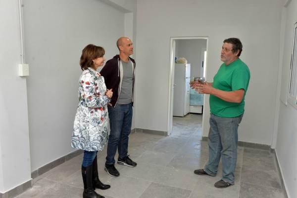 Alicia Andreotti recorrió las obras del nuevo edificio de la Policía Local